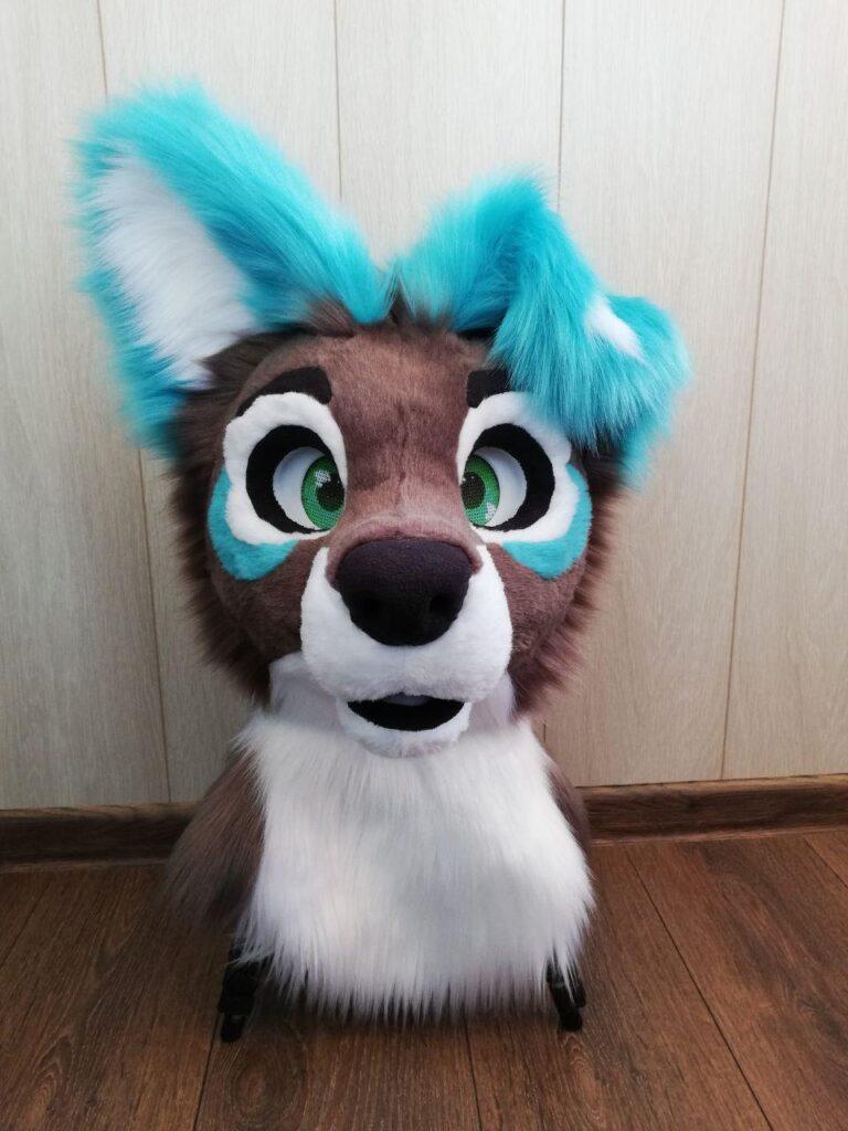 Fursuit Puppy White Star Head