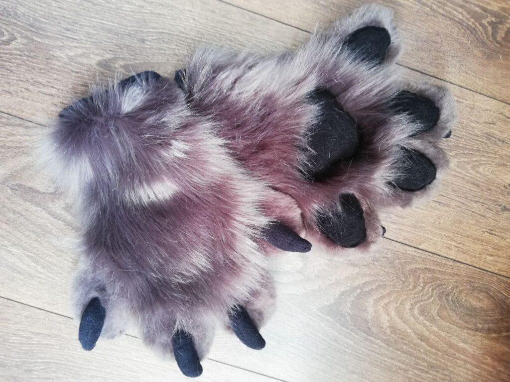 Fursuit Puppy White Star Paws