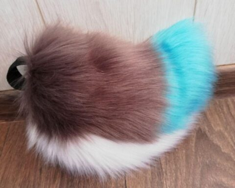 Fursuit Puppy White Star Tail