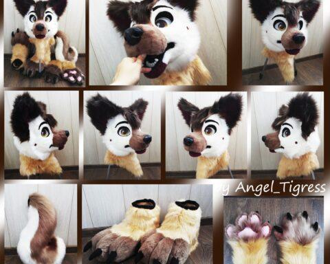 Commission partial fursuit Azareus