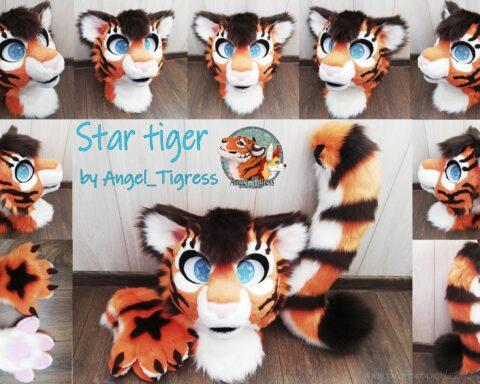 Star Tiger Fursuit Partial