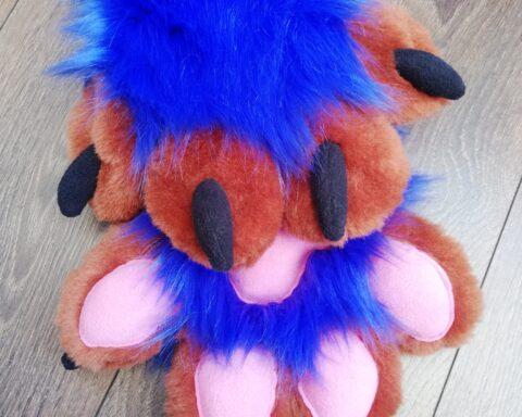 Blue Fox Full fursuit paws