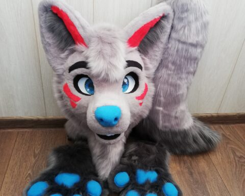 Gray Wolf Fursuit