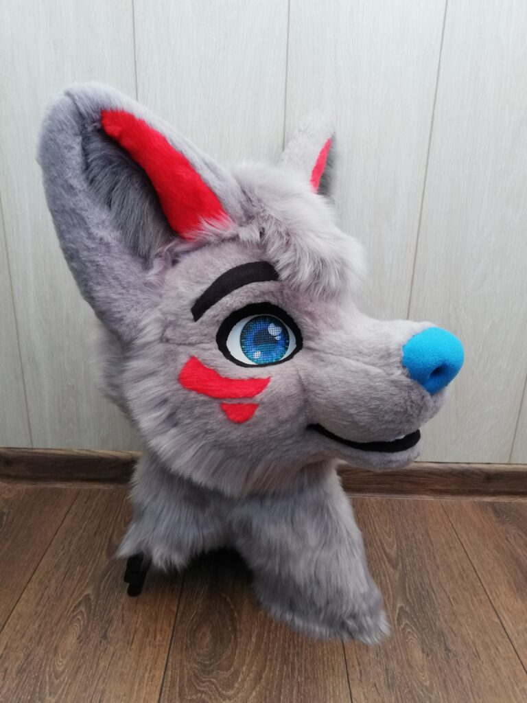 Gray Wolf Fursuit Head