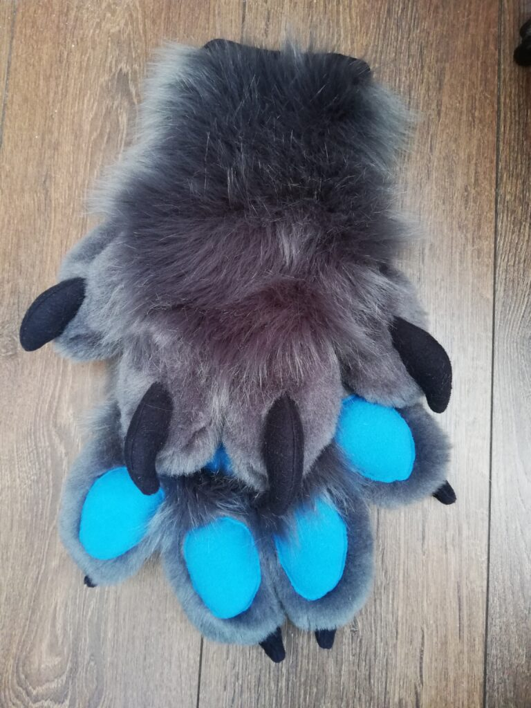Gray Wolf Fursuit Paws