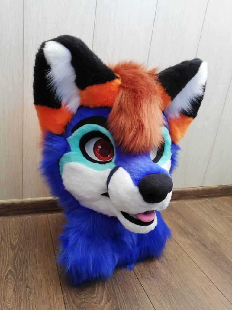 Blue Fox Full fursuit head