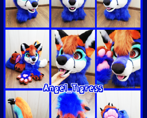 Blue Fox Full fursuit
