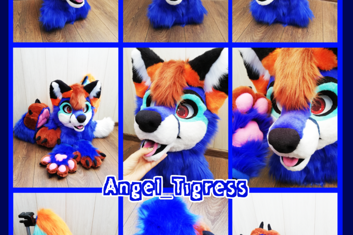 Blue Fox Full fursuit