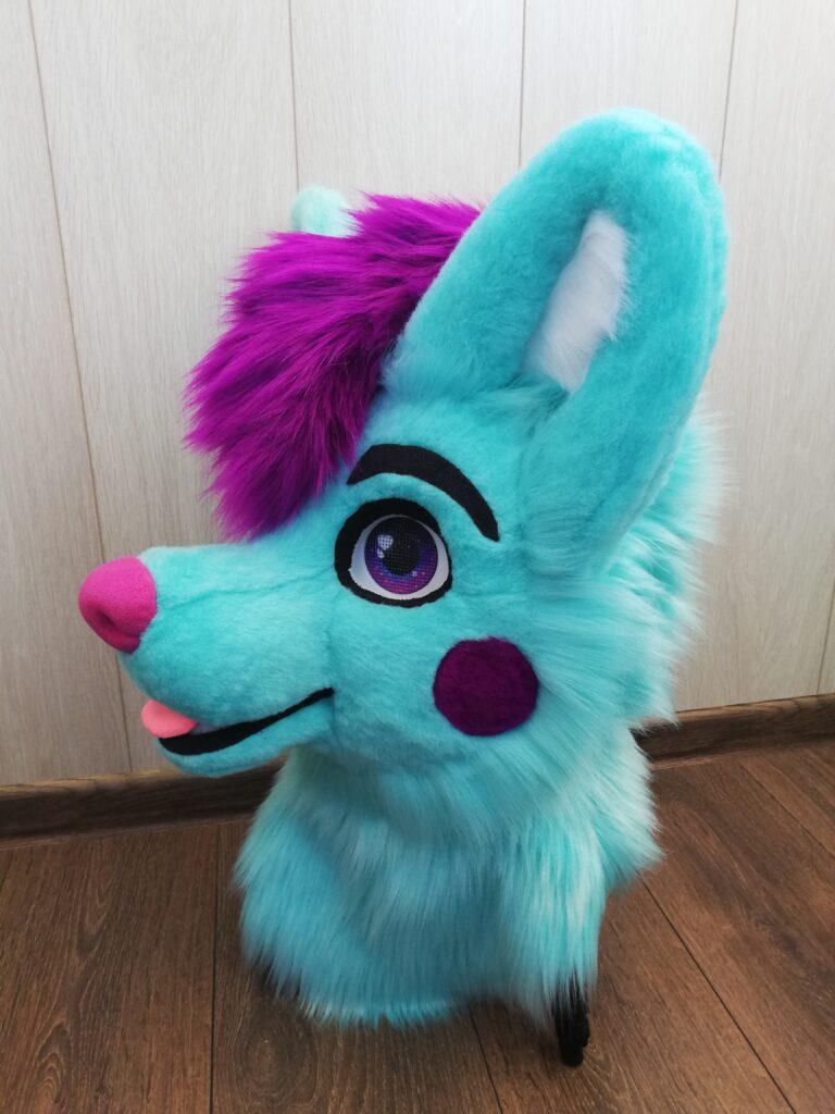 fursuit Aqua Dog head