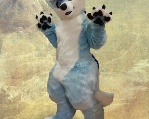 Full Fursuit Light Blue Fox