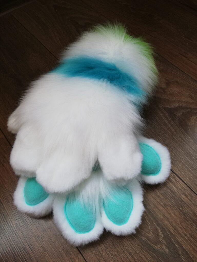 Ginger Dog Partial Fursuit Paws