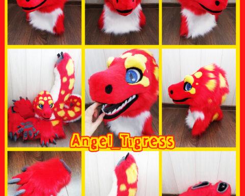 Red Lizard Fursuit